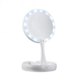 Nastaviteľné make-up zrkadlo s LED lampou