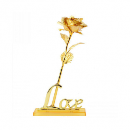 24K Zlatá ruža - so stojanom Love 1
