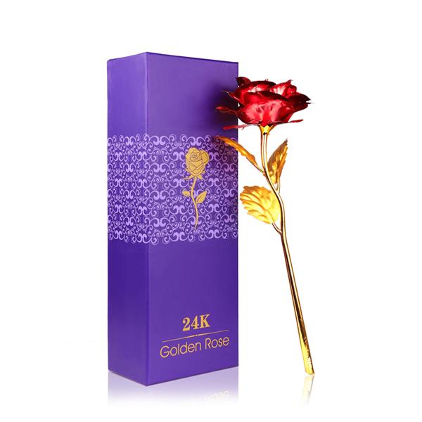 24K zlatá ruža