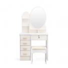 Kozmetický stolík so zrkadlom a stoličkou2