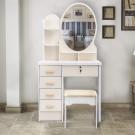 Kozmetický stolík so zrkadlom a stoličkou3