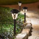 LED solárna lampa - zapichovateľná, so vzorovaným plexisklom2
