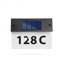 Solárny svietiaci číselník domu1