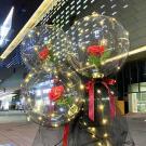Svietiací balón s ružou4