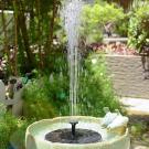 Záhradná solárna fontána 2