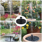 Záhradná solárna fontána 4