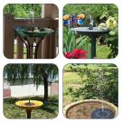 Záhradná solárna fontána 5