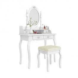 Zrkadlový toaletný stolík so stoličkou1
